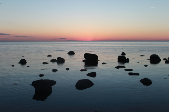 Uredigert solnedgang! Utrolig vakkert!
